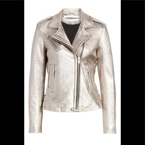 IRO Metallic Leather Moto Jacket